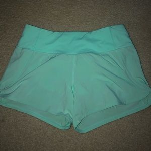 Lululemon Size 4 Teal Speed Up Shorts *2.5""